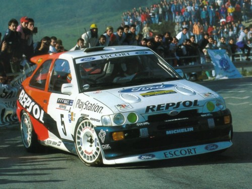 La Ford Escort RS Cosworth conduite Bruno Thierry au Rallye de Catalogne 1996